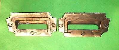 Architectual Salvage--Pair Of Brass Nautical Or Maritime Flush Draw Pulls