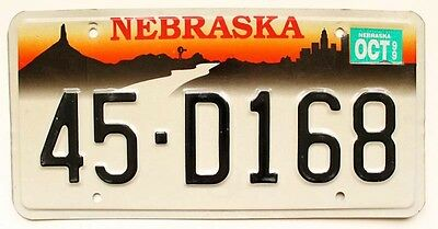 "Vintage Nebraska 1999 ""Halloween in Omaha"" Webster County License Plate"