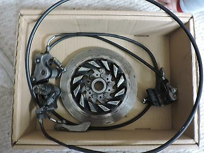 2008 YAMAHA SNOWMOBILE NYTRO PARK BRAKE CALIPERS (TWO OF THEM) and a ROTOR, USED