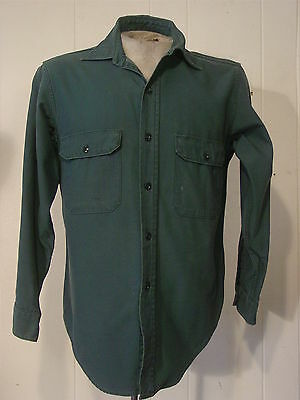 Vintage 1950s work shirt Sears Mountaincloth sanforized medium