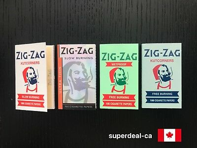 Zig-Zag Cigarette Rolling Papers Variety - 4 Packs