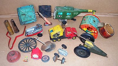 Tin Toy Lot Parts Line Mar Universal Riggers Friction For Parts Only