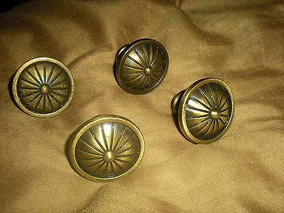 Antique Style Solid Brass Door Drawer Pulls, Set of 4