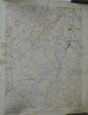 Morristown New Jersey Antique Topographic Map 1921