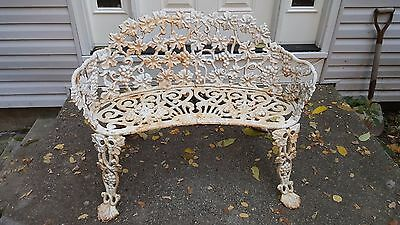 Antique Cast Iron Grape Vine Harp Garden Accent Interior Exterio Victorian Bench