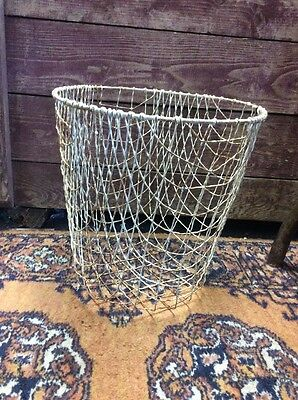 Fabulous One Of A Kind Wire Basket Chic Country Very Nice Antique Original Find!
