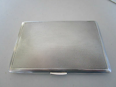 Large Sterling Silver Cigarette Case..Hallmarked Birmingham 1947..Top Quality..