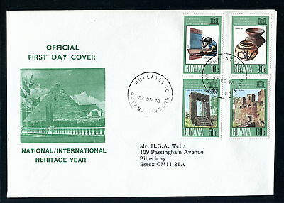 1978 Guyana FDC. Heritage Year. First Day Cover