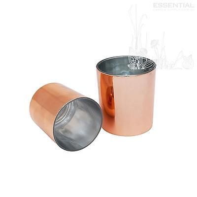 Glass Candle Jar 200ml Rose Gold x12
