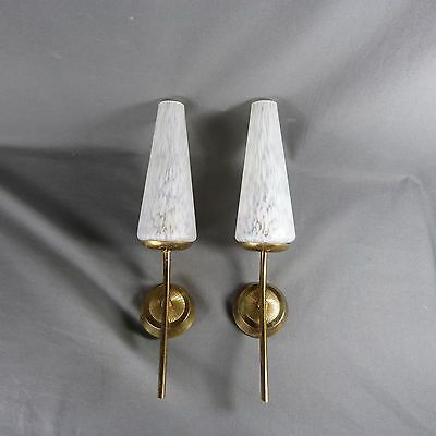 French Vintage Wall Light authentic retro c.1950-1960 Great Style Glass Paste • CAD $112.75
