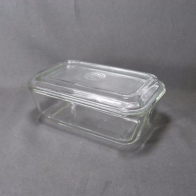 Vintage French Clear Glass Butter Dish - 60's - DURALEX