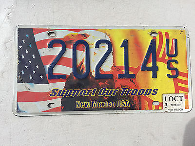 """New Mexico Support Our Troops  License Plate """" 20214 """" Nm Us Flag Patriot"""