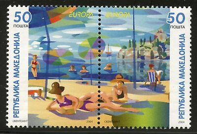 MACEDONIA Sc#305 Pair 2004 Europa Mint NH Complete
