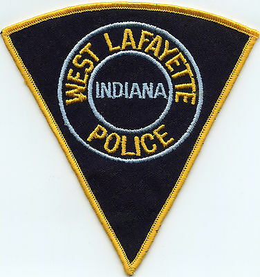 old vintage WEST LAFAYETTE INDIANA IN POLICE PATCH