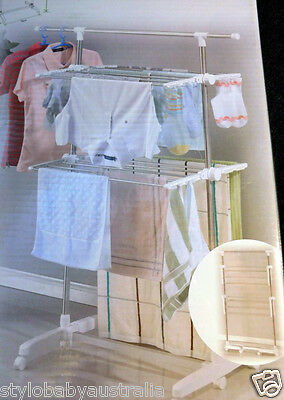 Portable Tiers Indoor Clothes * Laundry Drying Rack / Garments