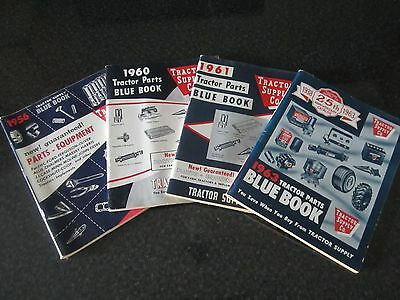 4 VTG Catalogs Tractor Supply Co. Blue Book Tractor Parts Implement 1956-1963