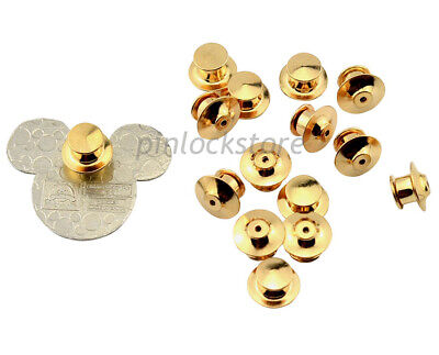 50 LOW PROFILE Locking Pin Backs/Pin Keepers For all Pin Post Pins,No Tool Req'd