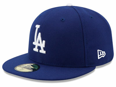 New Era LOS ANGELES LA DODGERS On Field 2017 Game Fitted Cap 5950 Dark Royal Hat