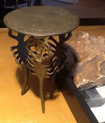 Antique Egyptian 3 Scorpion Legs Bronze Stand 1800- Early 1900s Nice Patina