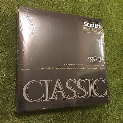 "SEALED 3M SCOTCH CLASSIC 7"" RECORDING TAPE REEL TO REEL 1800 FT (20 Available)"