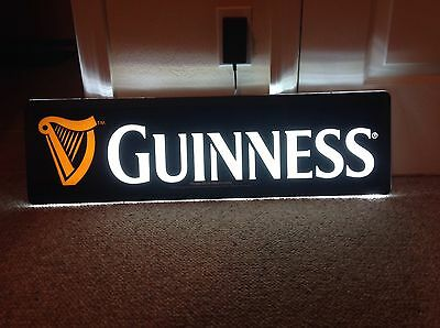 "Guinness Draught Beer LED Opti Neon Sign Light - 30"" x 9"" New In Box"