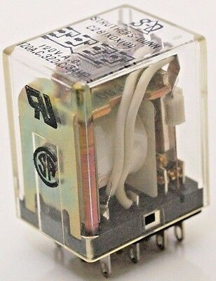 2x   Struthers and Dunn C281XDX100 Cube Relay 120 V.A.C. Coil 4PDT new from tray