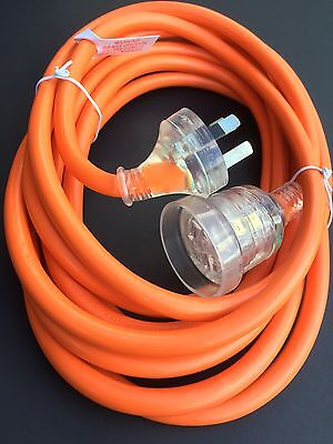 5 Meter 15amp Extra Heavy Duty Power Extension Cable Lead Cord With 10amp Plug