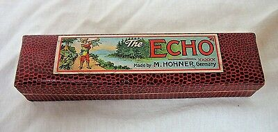 Vintage M. Hohner Harmonica, The Echo