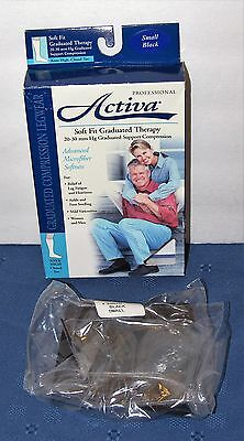 Activa Pro Soft Fit Therapy Support Compression Knee High Small Black 20-30 mm