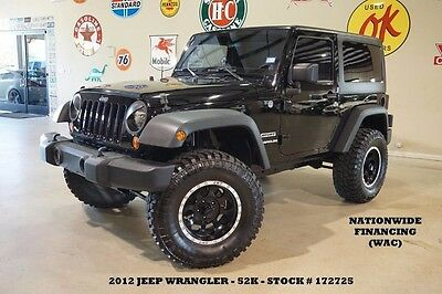2012 Jeep Wrangler Sport 4X4 6 SPD,LIFTED,HARD TOP,BLK WHLS,52K,WE FI 12 WRANGLER SPORT 4X4,6 SPD TRANS,HARD TOP,LIFTED,CLOTH,17IN WHLS,52K,WE FINANCE