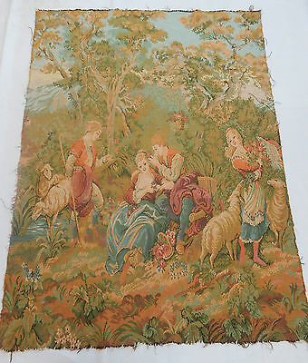 Vintage French Beautiful Tapestry Wall Hanging 100x136cm T174