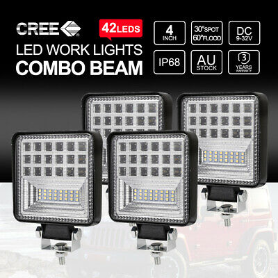 """2X 4""""inch 30W CREE LED Light Bar Spot Offroad Reverse Work Lamps"""