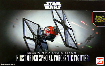 1/72 Star Wars First Order Special Forces Tie Fighter Model Kit Bandai