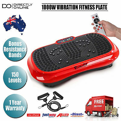 1000W Vibrating Plate Machine Ultra Slim Exercise Platform Fitness Weight Loss