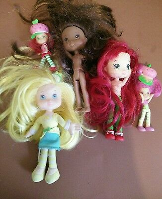 assorted strawberry shortcake dolls/figurines lot of 5