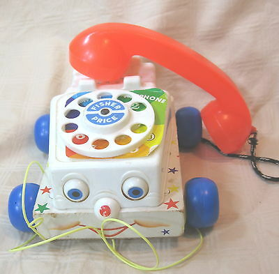 Vintage Baby / Child's 1961 Fisher Price Chatter Telephone Pull Toy