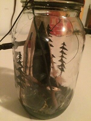 Very Unique, A Boat With Fishing Gear Inside A Jar