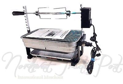Farberware Stainless Steel Open Hearth Broiler Rotisserie Grill R4550 with Motor
