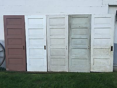 5 Antique Painted 5 Raised Panel Interior Sliding Barn Pinterest Doors - Pickup