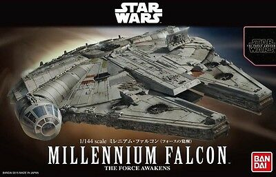 1/144 Star Wars Force Awakens Millennium Falcon Model Kit by Bandai