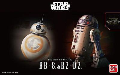 1/12 Star Wars BB-8 and R2-D2 Model Kit by Bandai