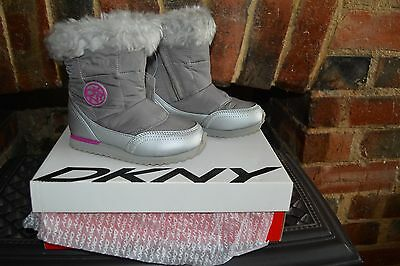 **GREAT XMAS GIFT**  DKNY SUTTON MOON BOOTS - GREY - BRAND NEW IN BOX Size 9.5