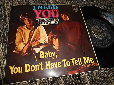 """THE WALKER BROTHERS I need You/Baby You don't have to.. +2 EP 45 7"""" 1966 SPAIN"""