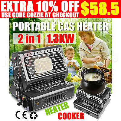 Portable Butane Gas Heater Hiking Camping Outdoor Dual-purpose Use CE Certified