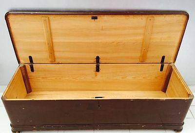 antique trunk trunk drawer cabinet solid wood spruce end 900 'chest