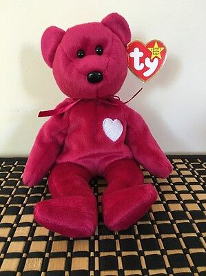 Ty Beanie Baby Valentina The Bear - with 3 Errors Rare !