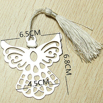 Guardian Silver Angel protection metal Charm book mark tassle