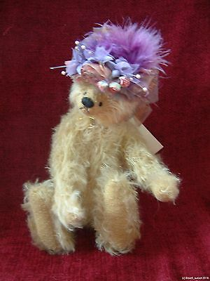 """Beechfield Bears by Jean Jamieson artists bear mohair jointed teddy with hat 10"""""""