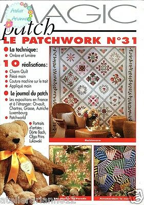 ♥ Magazine Quilt Couture patchwork ♥ Magic patch Patchwork n.31 A.287