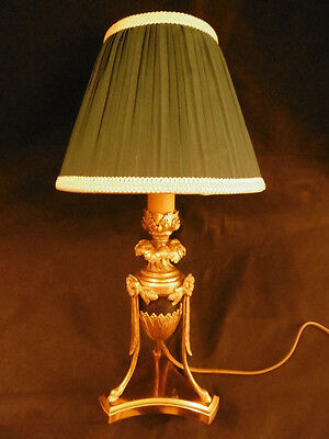 Lamp Candleholder Stamped, Louis Xvi Style, Era 19Th - Bronze - French Antique